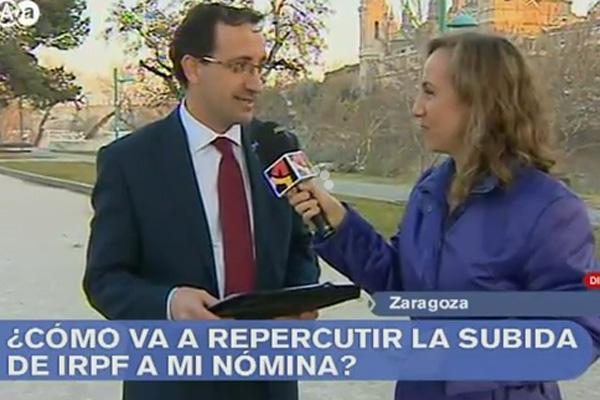 LIFI en Aragón TV. Aumento IRPF 2012
