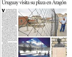 Uruguay visita su plaza en Aragón