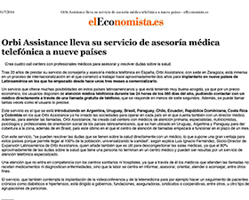 Artículo de elEconomista.es sobre ORBI Assistance