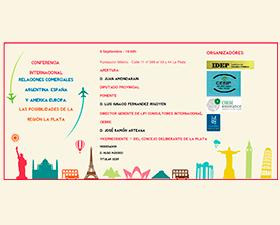 Las posibilidades comerciales entre Argentina y España se analizarán en La Plata en una conferencia internacional